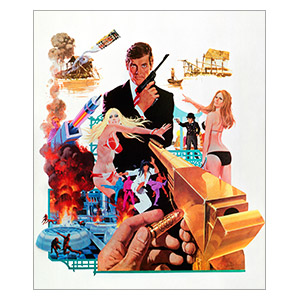 James Bond: Man with the Golden Gun. Размер: 25 х 30 см